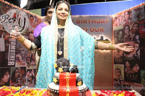Shabana Azmi's birthday bash on the sets of Amma