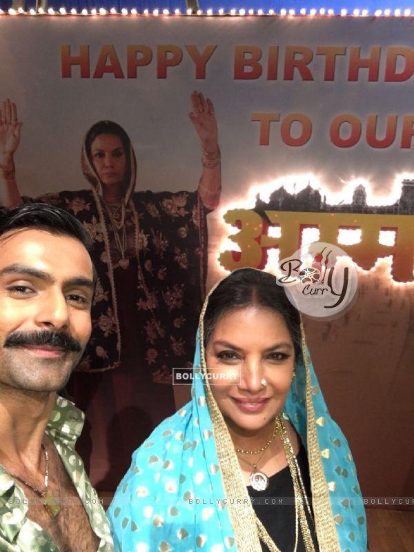 Ashmit Patel at Shabana Azmi's birthday bash on the sets of Amma