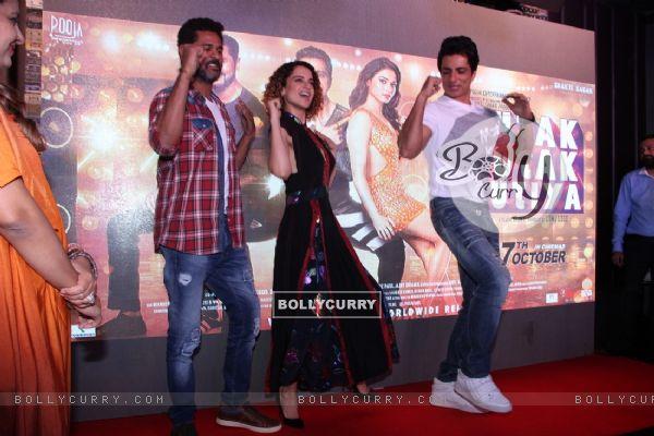 Kangana Ranaut, Sonu Sood and Prabhu Dheva at Music launch of 'Tutak Tutak Tutiya'