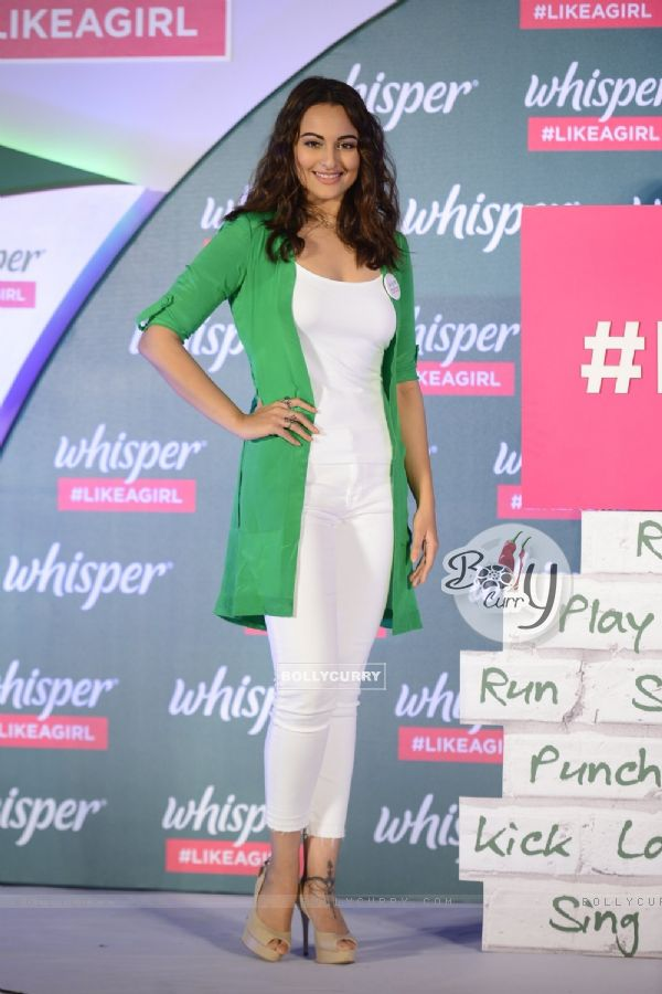 Sonakshi Sinha at Whisper new campaign launch