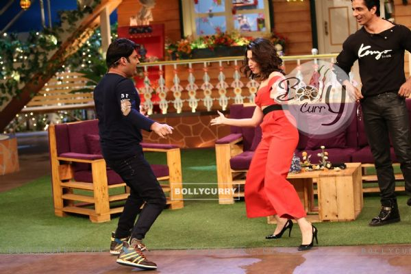 Tamannaah Bhatia and Sonu Sood at Promotion of 'Tutak Tutak Tutiya' on sets of The Kapil Sharma Show