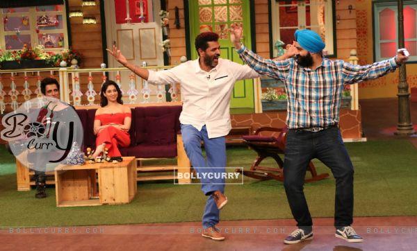 Prabhu Dheva dances at Promotion of 'Tutak Tutak Tutiya' on sets of The Kapil Sharma Show