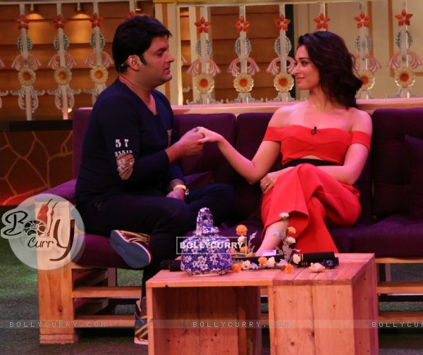Tamannaah Bhatia and Kapil Sharma at Promotion of 'Tutak Tutak Tutiya' on sets of Kapil Sharma S