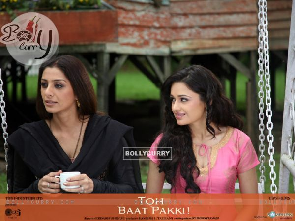 Tabu and Yuvika in the movie Toh Baat Pakki