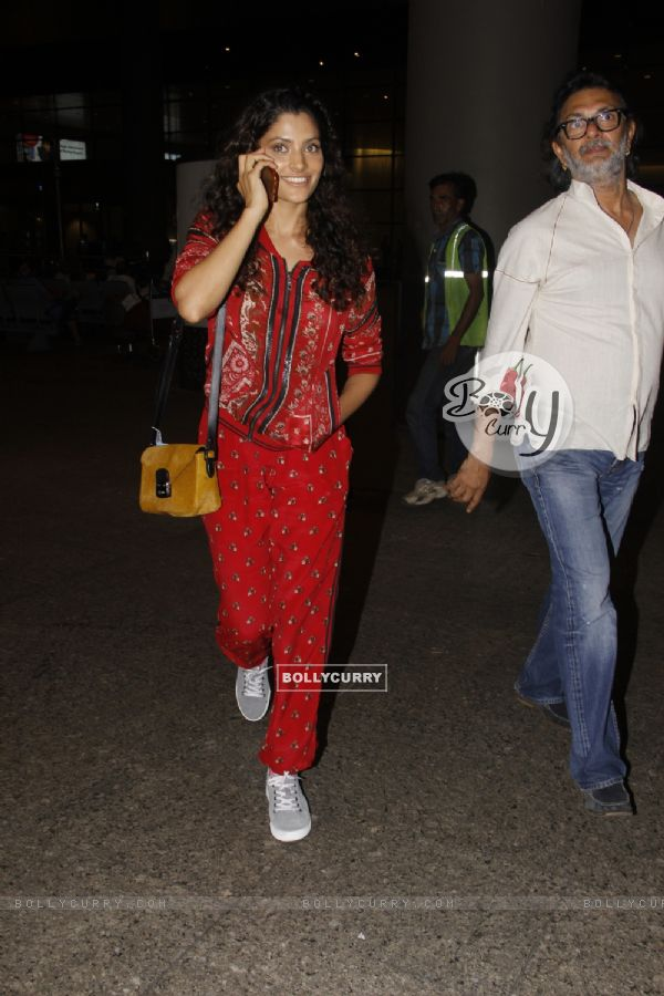 Saiyami Kher snapped with Rakeysh Omprakash Mehra