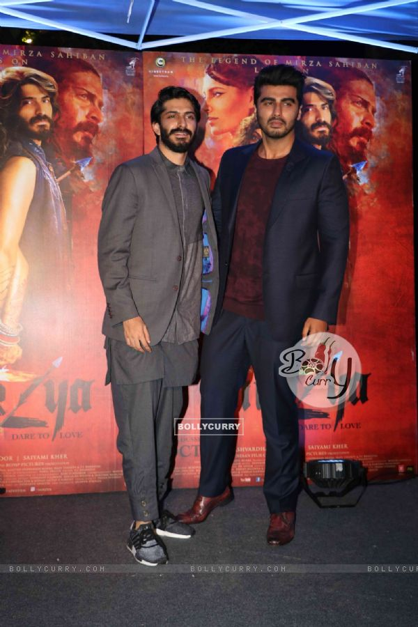 Harshvardhan Kapoor and Arjun Kapoor at Promotion of film 'Mirzya'