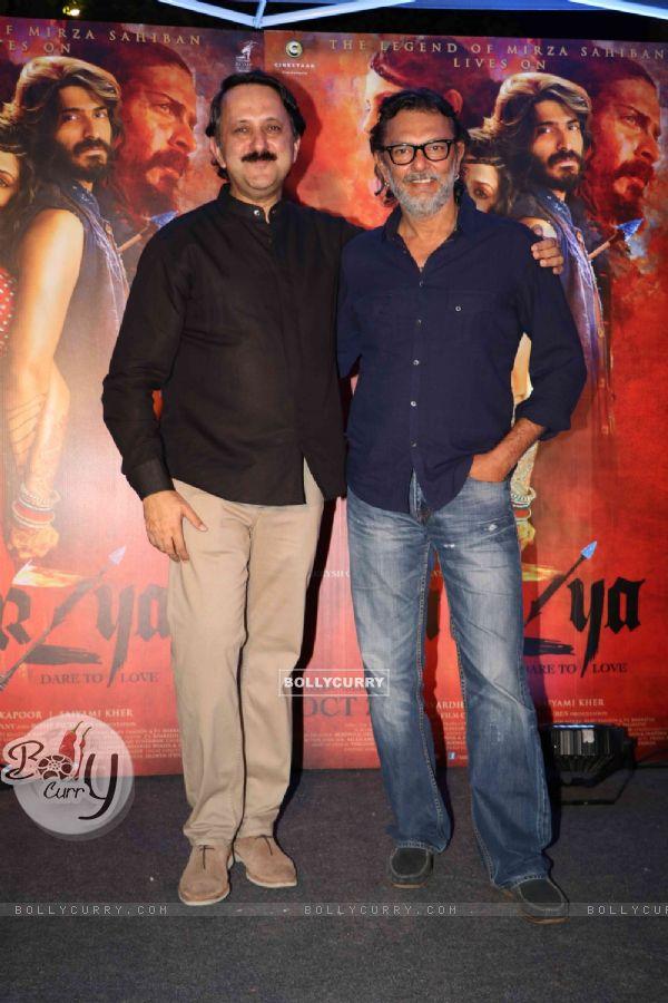 Rohit Khattar with Rakeysh Omprakash Mehra at Promotion of film 'Mirzya'