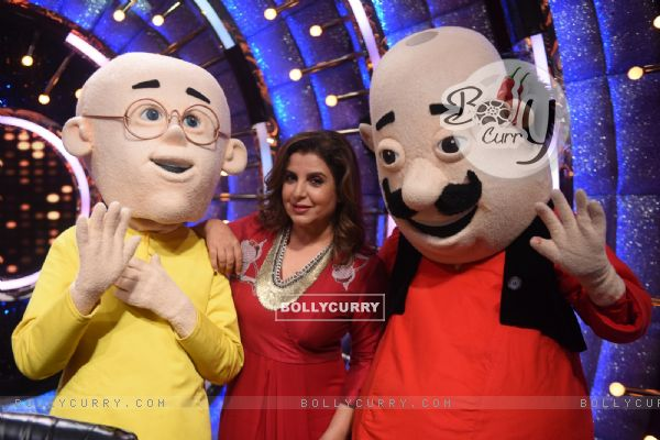 Farah Khan met Motu Patlu and shook legs