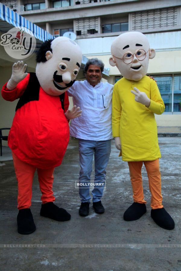 Vishal Bhardwaj met Motu Patlu and shook legs
