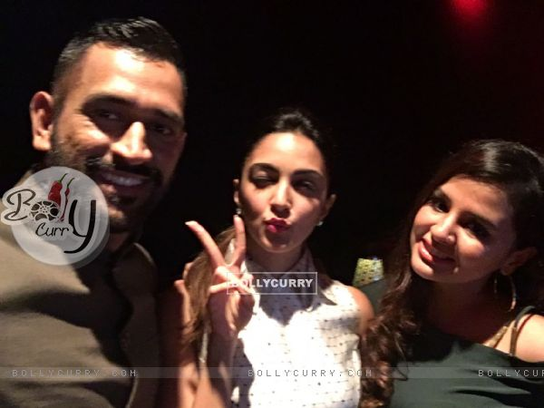 Kiara Advani with MSD and Sakshi Dhoni at Screening of 'M.S.Dhoni: The Untold Story'