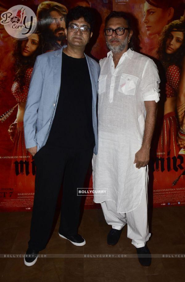 Rakeysh Omprakash Mehra and Prasoon Joshi at Special screening of film 'Mirzya'