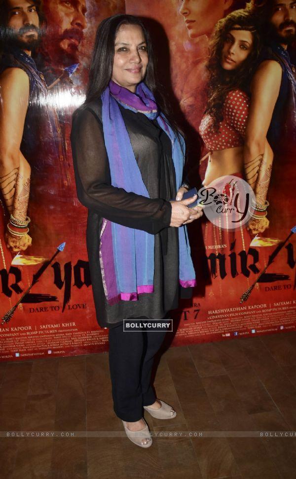 Shabana Azmi at Special screening of film 'Mirzya'