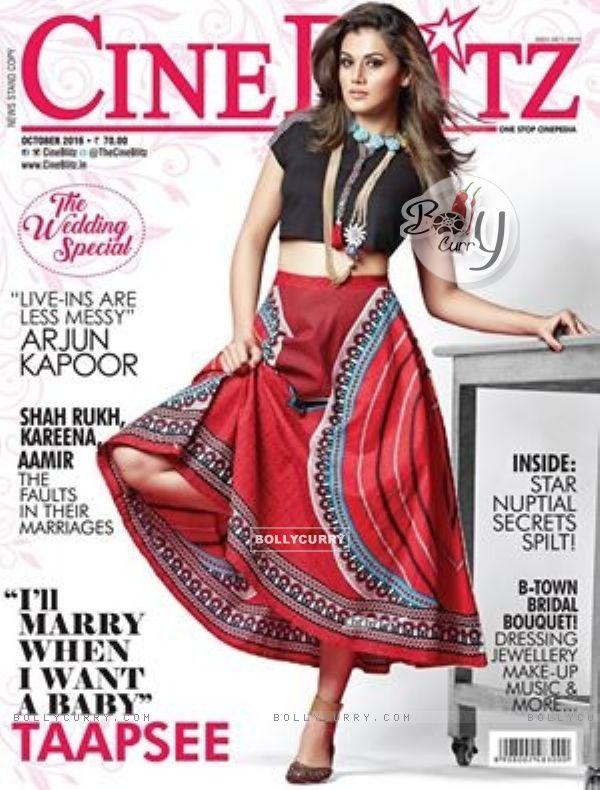 Taapsee Pannu Graces Cineblitz Cover