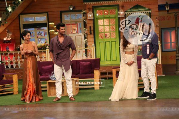 Jennifer Winget, Kushal Tandon and Aneri Vajani visit on the sets of 'The Kapil Sharma Show'