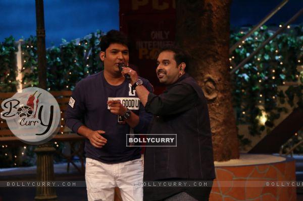 Shankar Mahadevan on the sets of The Kapil Sharma Show