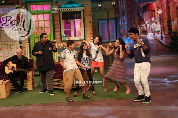 Shankar Mahadevan and Loy Mendosa on the sets of The Kapil Sharma Show