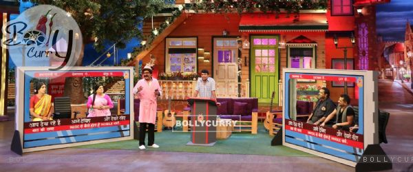 Shankar Mahadevan and Ehsaan Noorani on the sets of The Kapil Sharma Show