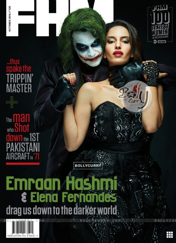 Elena Fernandes embraces her dark side on FHM India's October issue