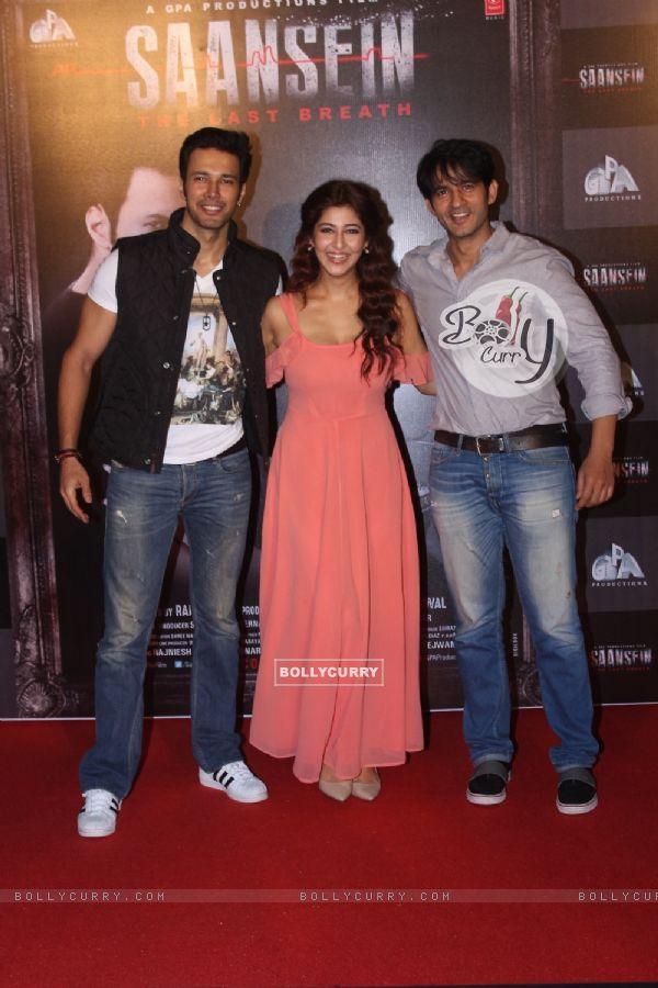 Rajneesh Duggal, Hiten Tejwani and Sonarika Bhadoria at Trailer Launch of film 'Saasein'