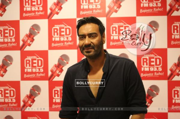 Ajay Devgan at RED FM to promote Shivaay