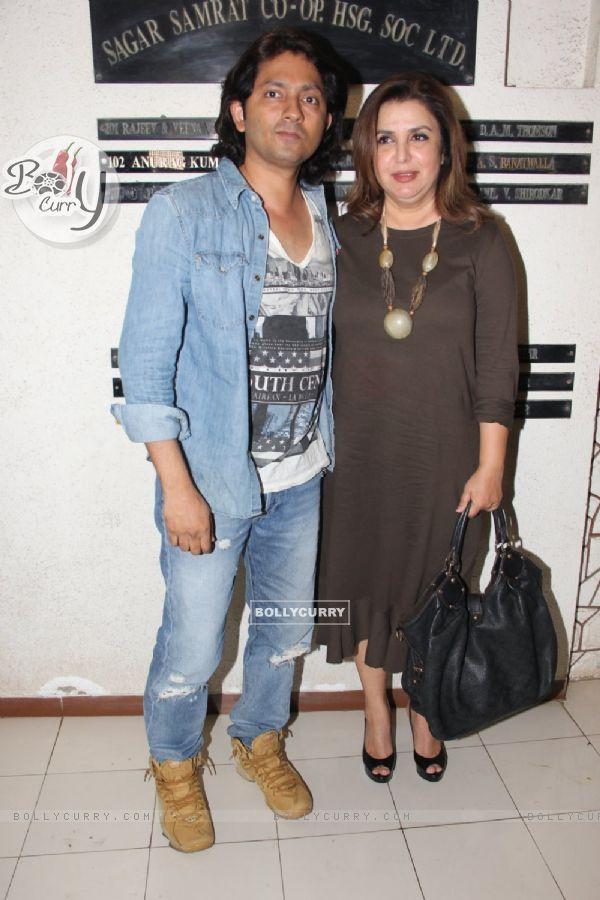Shirish Kunder and Farah Khan at Javed Akhtar's Birthday Bash