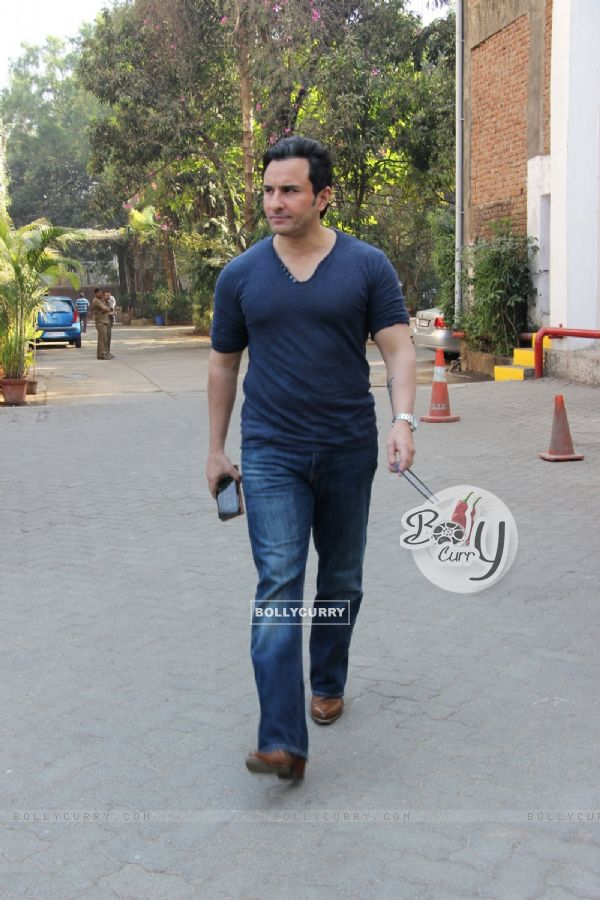 Saif Ali Khan snapped at Mehboob studio!