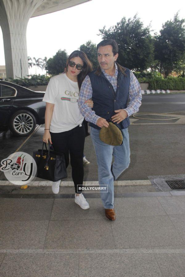 Saif Ali Khan and Kareena Kapoor snapped at the Airport!
