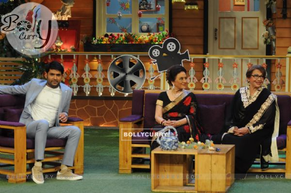 Asha Parekh and Helen on the sets of 'The Kapil Sharma Show'