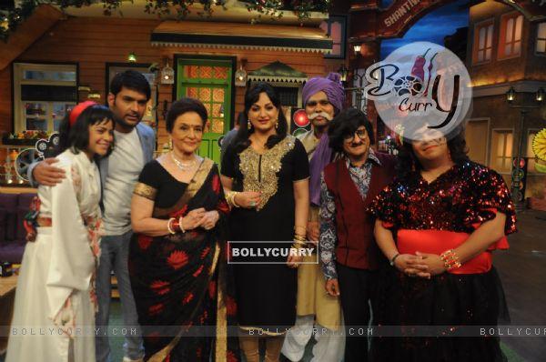 Asha Parekh and Helen on the sets of 'The Kapil Sharma Show'