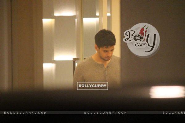 Sidharth Malhotra Snapped at Karan Johar's Residence