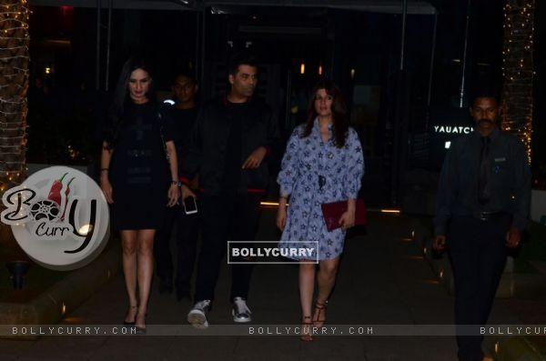 BFF's Karan Johar and Twinkle Khanna snapped
