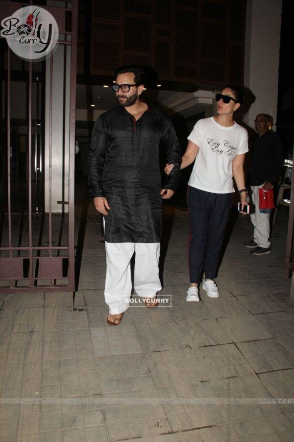 Lovely Couple Saif - Kareena's Anniversary Dinner