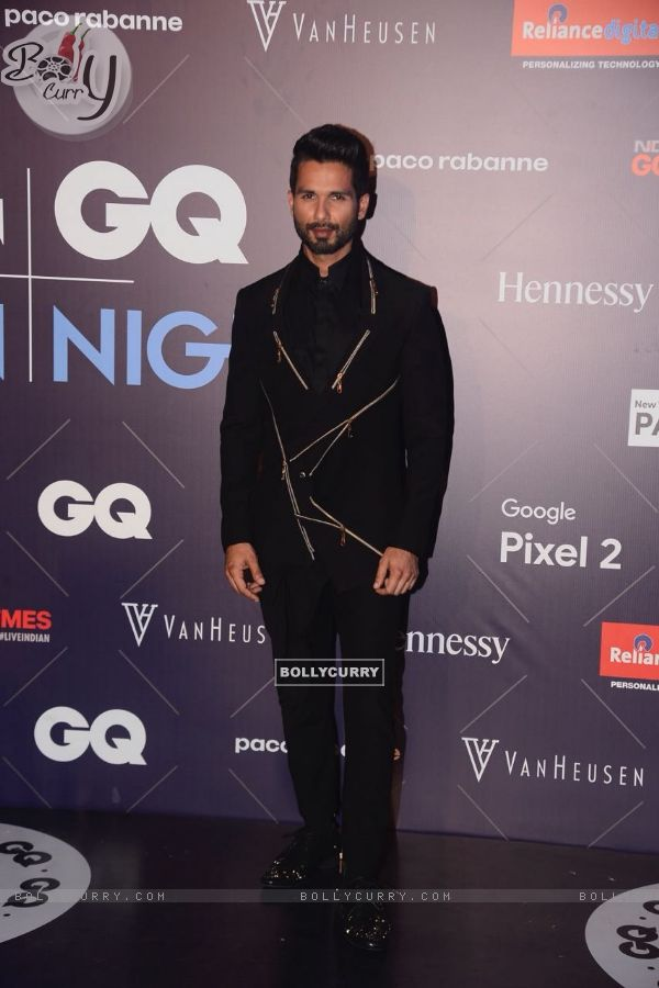 Shahid's unsual black suit