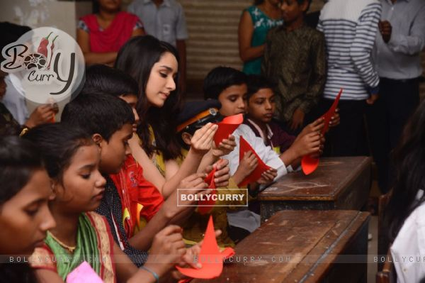 Shraddha Kapoor does craft activities with the kids