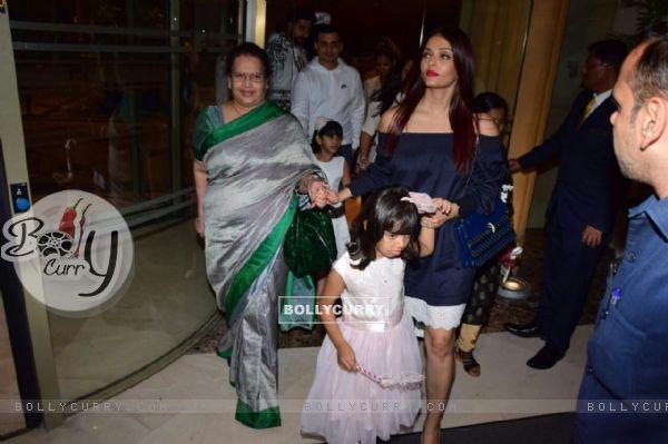 Bachchan family celebrates Aaradhya's birthday