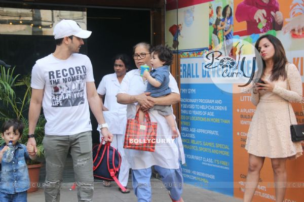 Baby Taimur Ali Khan clicked in the city