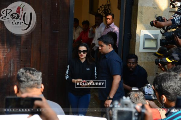 Ameesha Patel at Anil's residence
