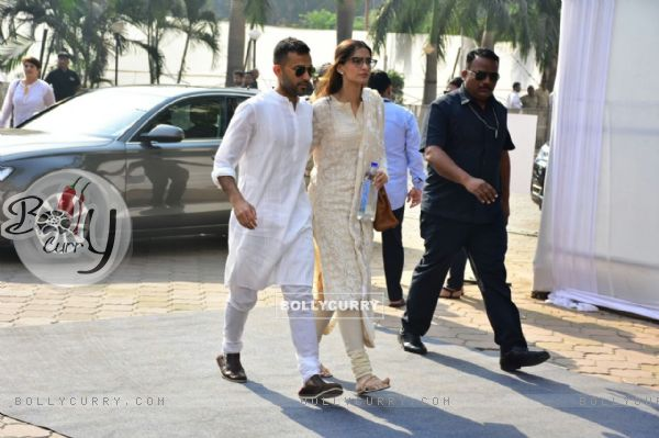 Niece Sonam with beau Anand at the Venue