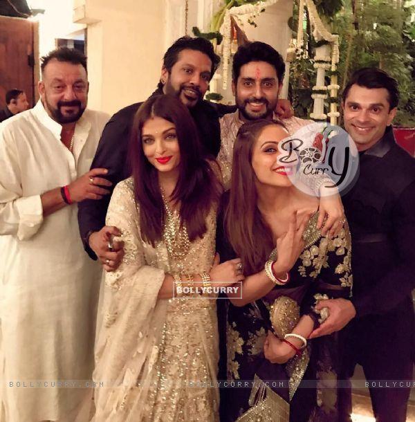 Sanjay Dutt, Aishwarya Rai, Abhishek Bachchan, Bipasha Basu and Karan Singh Grover