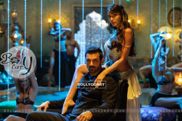 Nora Fatehi and John Abrahim in Dilbar song from Satyameva Jayate (437286)