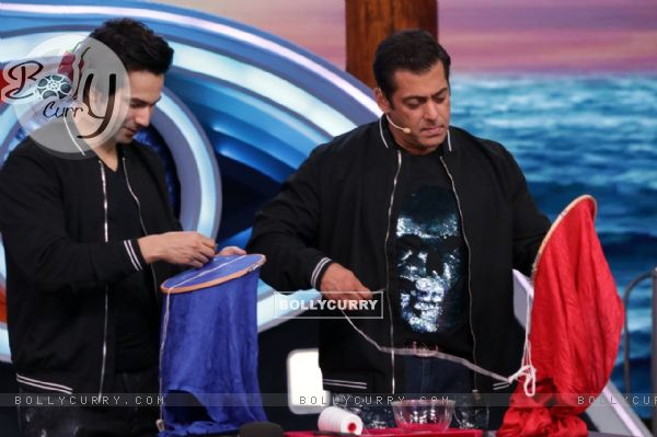 Weekend ka Vaar: Varun Dhawan challenged Salman to take the Sui- dhaga challenge