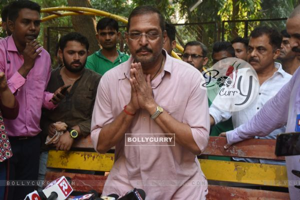 Nana Patekar and Vinita Nanda's press conference