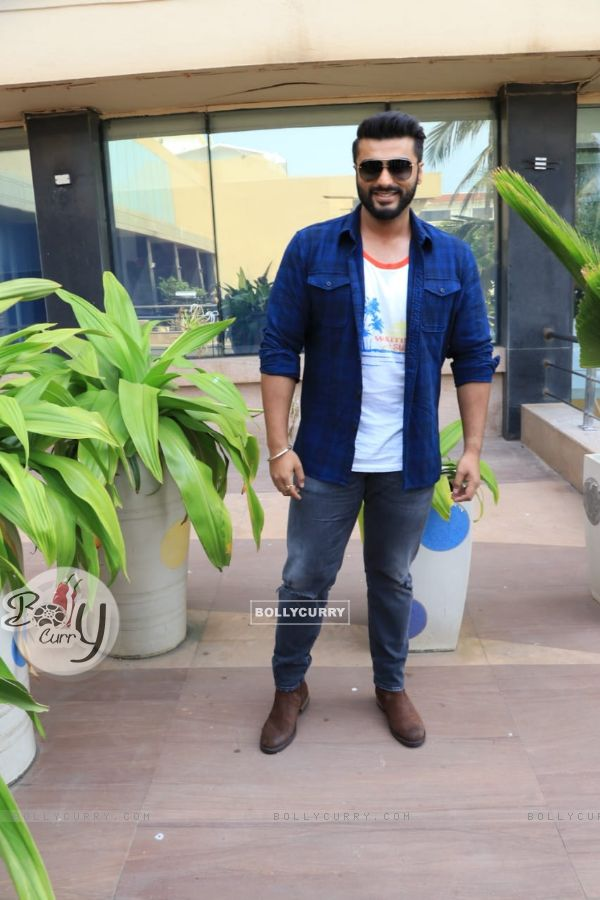 Arjun Kapoor and Parineeti Chopra promoting their movie Namaste England at Novotel, Juhu