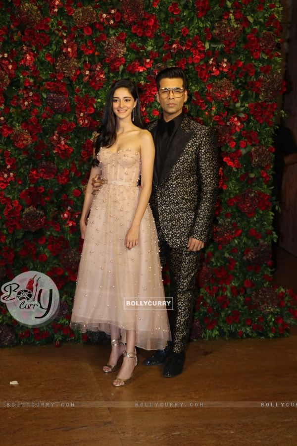 Karan Johar at Ranveer Deepika Wedding Reception Mumbai