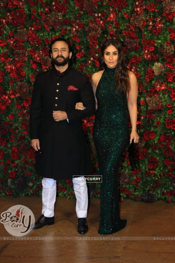 Saif Ali Khan and Kareena Kapoor Khan at Ranveer Deepika Wedding Reception Mumbai