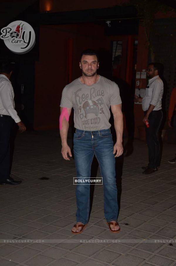 Sohail Khan spotted at Arpita's House in Bandra