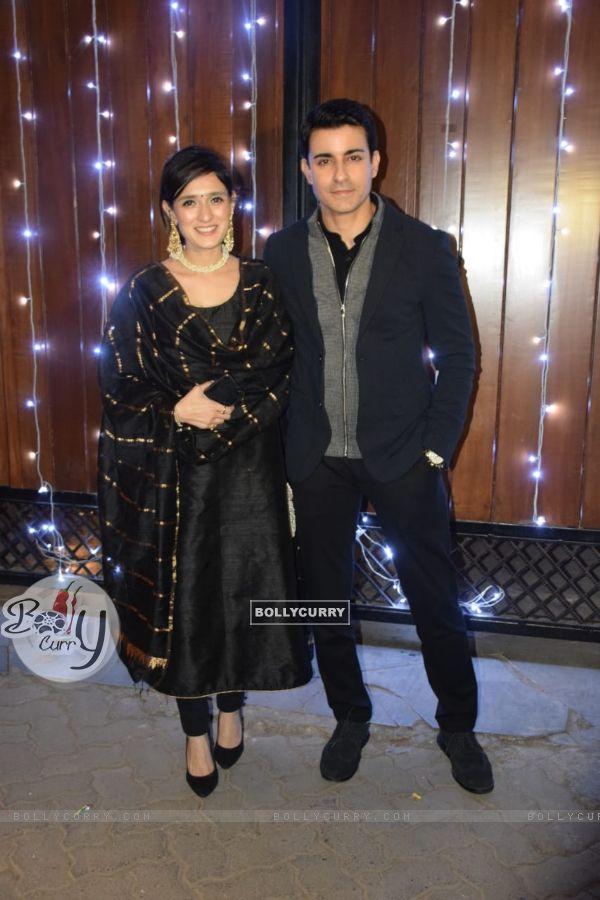 Gautam Rode with wife at Additi Gupta and Kabir Chopra cocktail Party