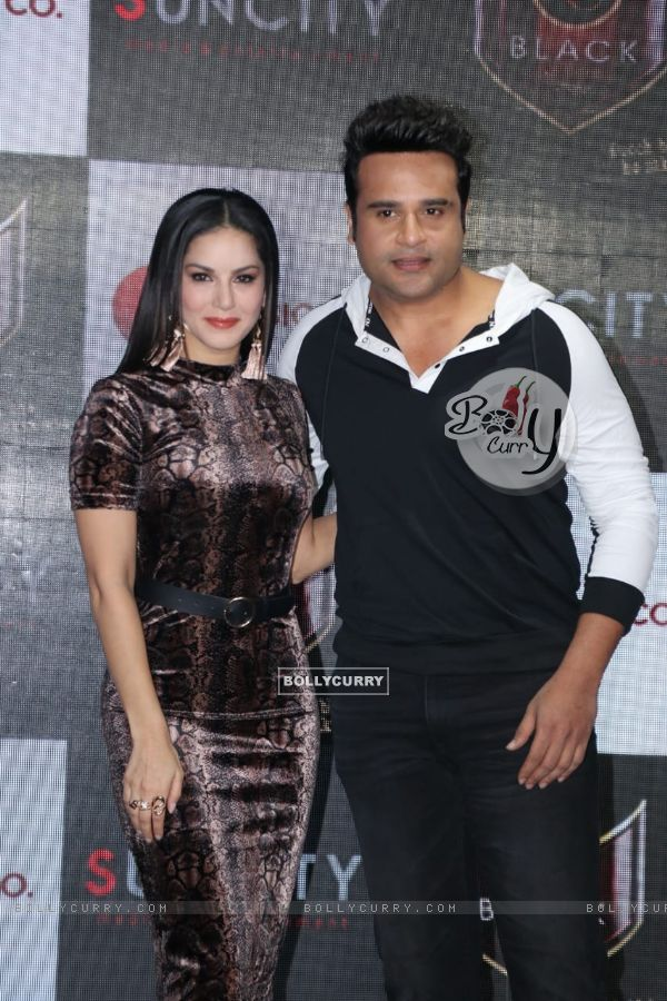 Krushna Abhishek and Sunny Leone spotted at Hard Rock Cafe in Andheri