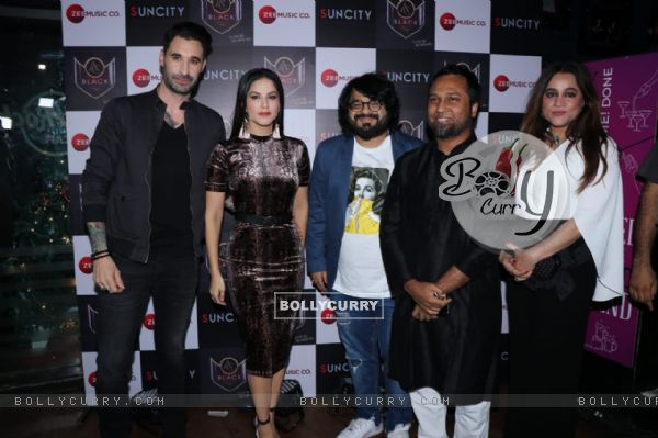 Sunny Leone and Pritam Chakraborty spotted at Hard Rock Cafe in Andheri