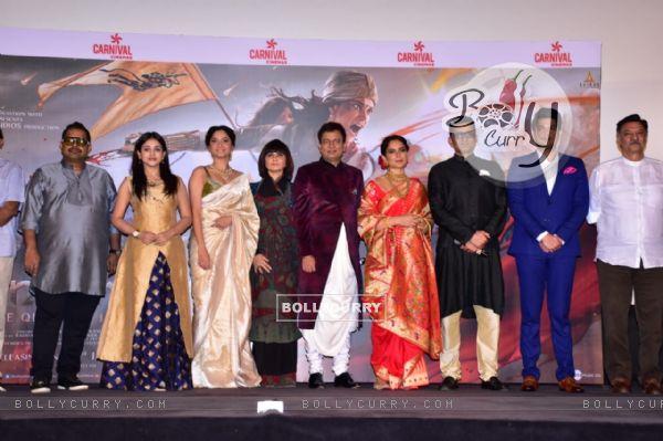 Shankar Mahadevan, Mishti, Ankita Lokhande, Kangana Ranaut at Manikarnika trailer launch